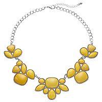Yellow Geometric Stone Statement Necklace