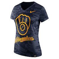 Women's Nike Milwaukee Brewers Pattern Dri-FIT Tee