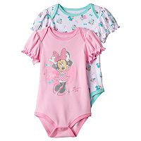 Disney's Minnie Mouse Baby Girl 2-pk. Graphic & Print Bodysuits