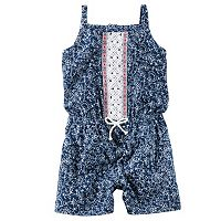 Baby Girl Carter's Floral Crochet Romper