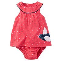 Baby Girl Carter's Polka-Dot Bodysuit Dress