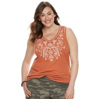 Plus Size SONOMA Goods for Life™ Embroidered Tank