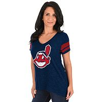 Plus Size Majestic Cleveland Indians Hyper Tee