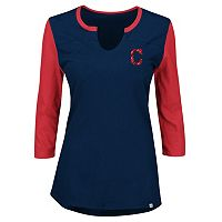 Plus Size Majestic Cleveland Indians Raglan Tee