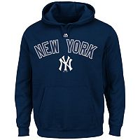 Big & Tall Majestic New York Yankees Wordmark Hoodie