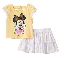 Disney's Minnie Mouse Baby Girl Sequined Graphic Tee & Polka-Dot Scooter Set