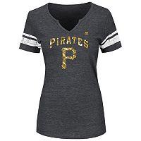 Women's Majestic Pittsburgh Pirates Favorite Team Tee