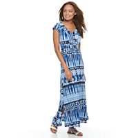 Petite Dana Buchman Shirred Maxi Dress