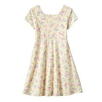 Disney's Beauty and the Beast Toddler Girl Mrs. Potts, Cogsworth & Lumiere Floral Dress by Jumping Beans®
