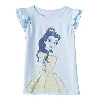 Disney's Beauty and the Beast Girls 4-7 Flutter Sleeves Graphic Tee by Jumping Beans®