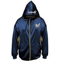 Big & Tall Majestic Milwaukee Brewers Fleece Full-Zip Hoodie