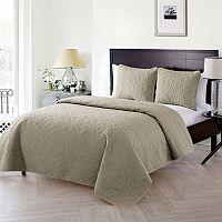 VCNY Home Caroline Embossed Quilt Set