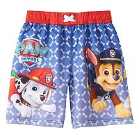 Boys 4-7 Paw Patrol Marshall, Chase & Rubble Swim Trunks