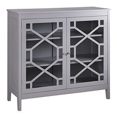 Linon Geometric 2-Door Storage Cabinet by