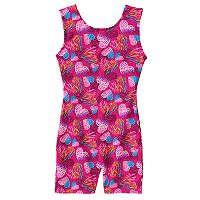 Girls 4-14 Jacques Moret Widerness Hearts Tank Biketard Leotard