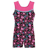 Girls 4-14 Jacques Moret Heart Shapes Biketard Leotard