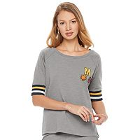 madden NYC Juniors' Patched Sweatshirt