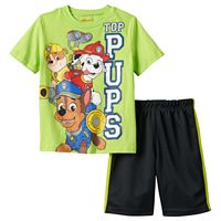 Toddler Boy Paw Patrol Chase, Marshall & Rubble Graphic Tee & Shorts Set