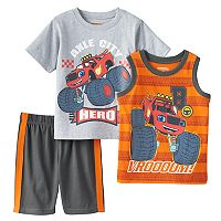 Toddler Boy Blaze and the Monster Machines Blaze Tee, Tank Top & Shorts Set