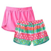 Girls 4-6x Freestyle Revolution 2-pk. Printed & Solid Shorts
