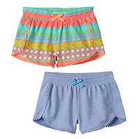 Girls 4-6x Freestyle Revolution 2-pk.Solid & Print Pom Pom Cuff Shorts Set