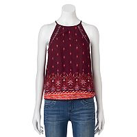 Juniors' Mudd® Pom-Pom Trim Tank