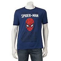 Men's Marvel Spider-Man Ringer Tee
