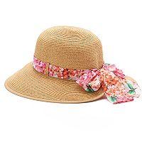 Dana Buchman Split-Back Floral Floppy Hat