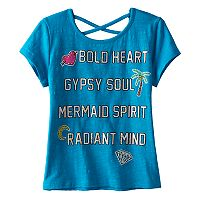 Disney D-signed Pirates of the Caribbean: Dead Men Tell No Tales Girls 7-16 Criss-Cross Back Foil Graphic Tee