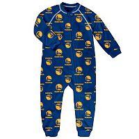 Toddler adidas Golden State Warriors Logo Footed Pajamas