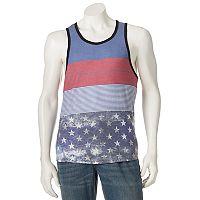 Men's Distortion Striped Americana Tank Top