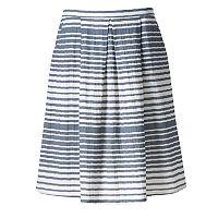 Women's Studio 253 Pleated Stripe Skirt