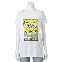 Juniors' Nickelodeon SpongeBob SquarePants Crew Graphic Tee