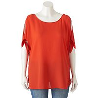 Juniors' Plus Size HeartSoul Tie-Sleeve Tunic