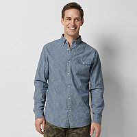 Men's SONOMA Goods for Life™ Flexwear Modern-Fit Stretch 1-Pocket Button-Down Shirt