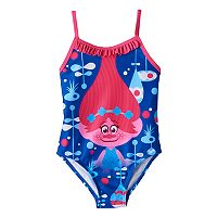 Toddler Girl DreamWorks Trolls Poppy Ruffle One-Piece Swimsuit