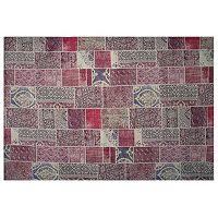 LA Rug Inc Gemini Red Tile Rug - 5' x 7'