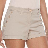 Juniors' Candie's® Button Accent Shortie Shorts