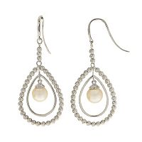 PearLustre by Imperial Sterling Silver Freshwater Cultured Pearl Teardrop Earrings
