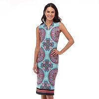 Women's Indication by ECI Medallion Print Sheath Dress