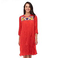 Women's Indication by ECI Embroidered Shift Dress