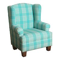 HomePop Kids Plaid Wingback Accent Chair