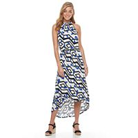 Women's Apt. 9® Print High-Low Maxi Dress