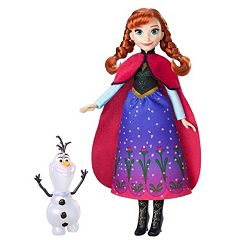 Disney's Frozen Northern Lights Anna Doll & Olaf Figure Set by