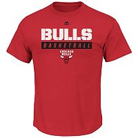 Big & Tall Majestic Chicago Bulls Team Color Tee