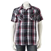 Men's Burnside Plaid Button-Down Shirt