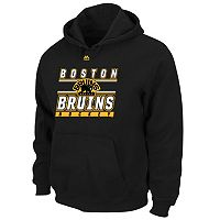 Big & Tall Majestic Boston Bruins Logo Hoodie