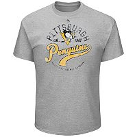 Big & Tall Majestic Pittsburgh Penguins Logo Heathered Tee