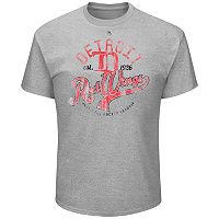 Big & Tall Majestic Detroit Red Wings Logo Heathered Tee
