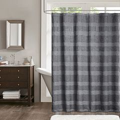 Madison Park Colton Jacquard Shower Curtain by